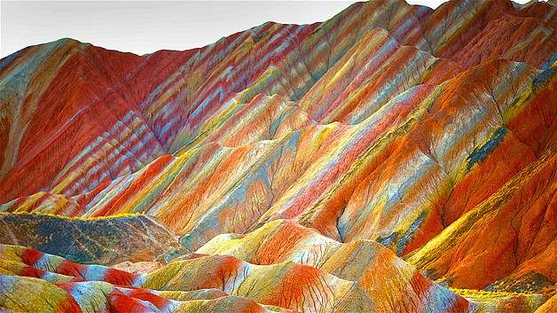 Cin-Gansu-Zhangye-Danxia-Landform-Jeolojik-Parki-1