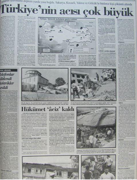 Cumhuriyet-gazetesi-18-agustos-1999-2 17 Ağustos 1999 Depremi, O Günlerin Gazete Manşetleri