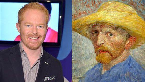 Jesse-Tyler-Ferguson-Vincent-Van-Gogh Günümüzdeki Ünlülerin,tarihteki benzerleri!