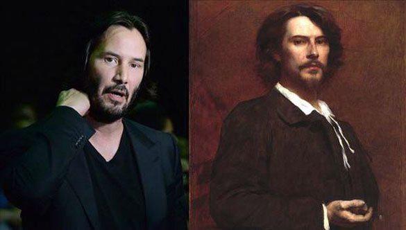 Keanu Reeves-paul-monet Günümüzdeki Ünlülerin,tarihteki benzerleri!