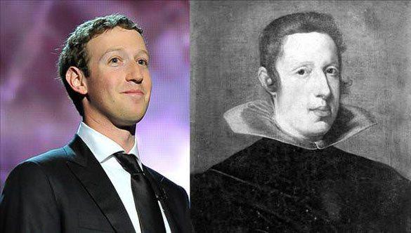 Mark-Zuckerberg-King-Phillip-IV Günümüzdeki Ünlülerin,tarihteki benzerleri!