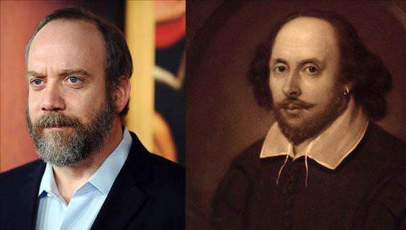Paul-Giamatti-William-Shakespeare Günümüzdeki Ünlülerin,tarihteki benzerleri!