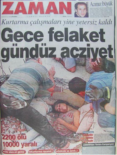 Zaman-gazetesi-17-agustos-1999 17 Ağustos 1999 Depremi, O Günlerin Gazete Manşetleri