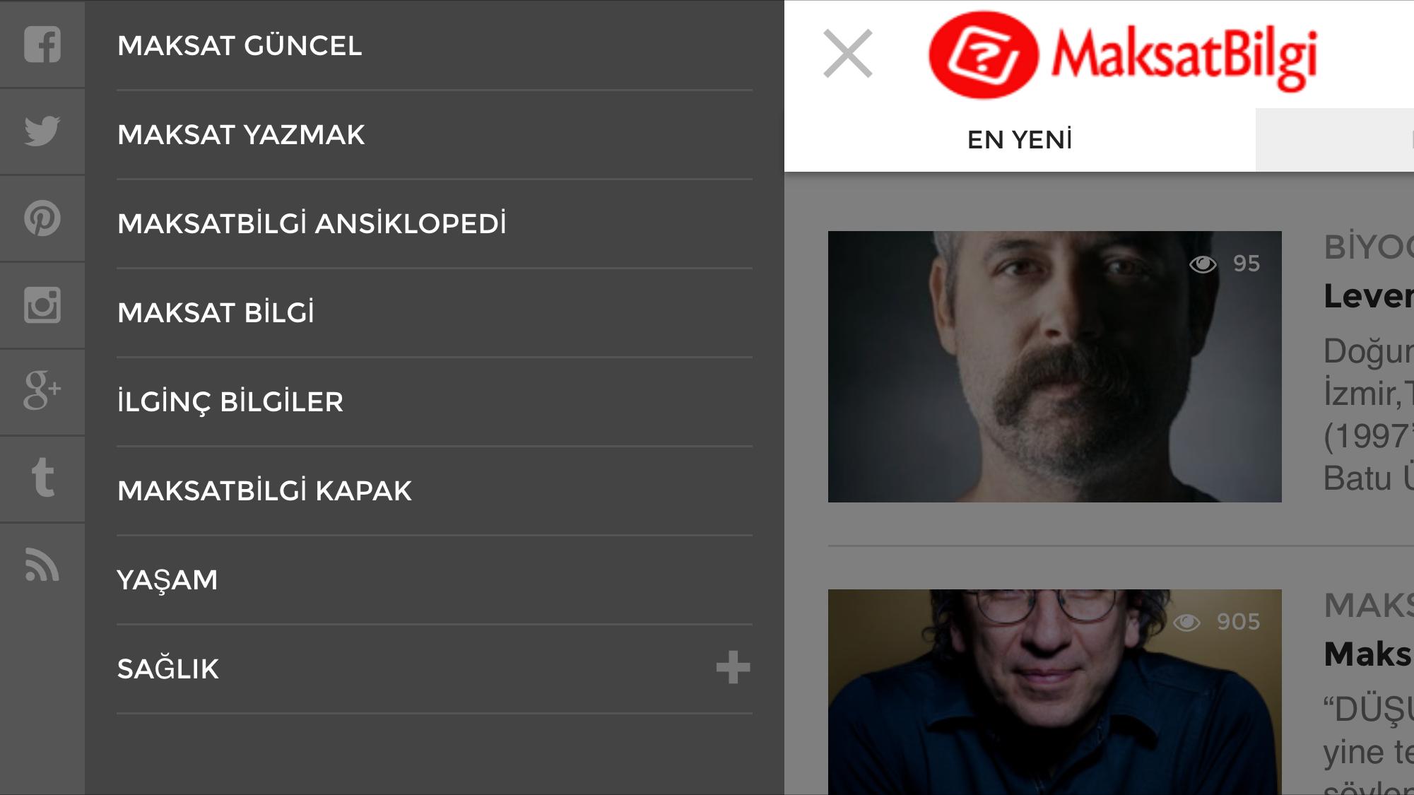 maksatbilgi v3 slide menu - MaksatBilgi v3