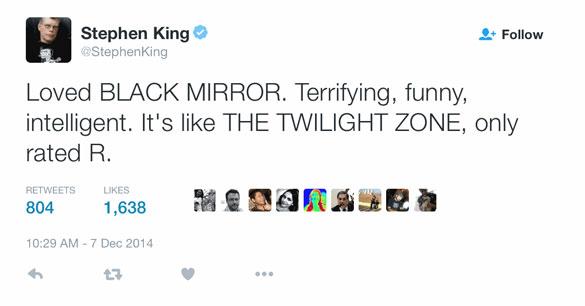 black-mirror-stephen-king-twitter Son Zamanın En İyi Dizisi: Black Mirror (Kara Ayna)